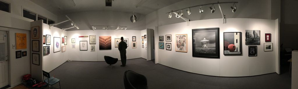 Panorama of installation view, Arthur S Aubry Art Estate Sale at The Grocery